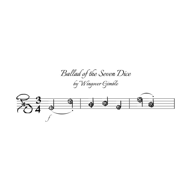 Ballad Sheet Music - Dark Men's T-Shirt by Ballad of the Seven Dice's Artist Shop