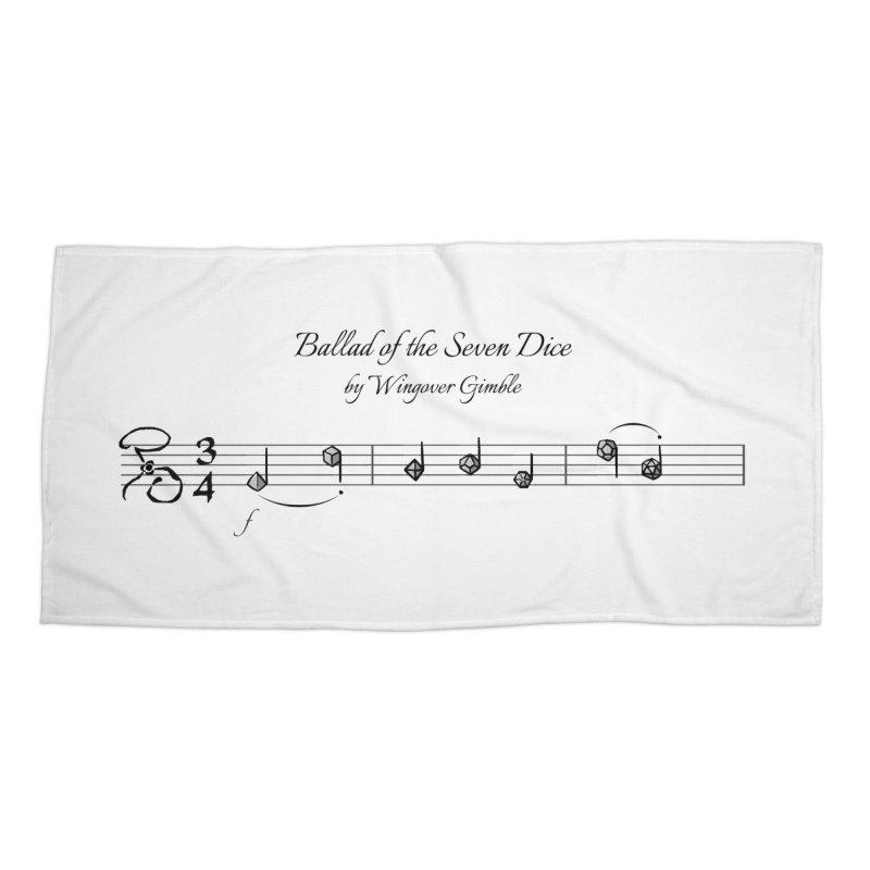 Ballad Sheet Music - Dark Accessories Beach Towel by Ballad of the Seven Dice's Artist Shop
