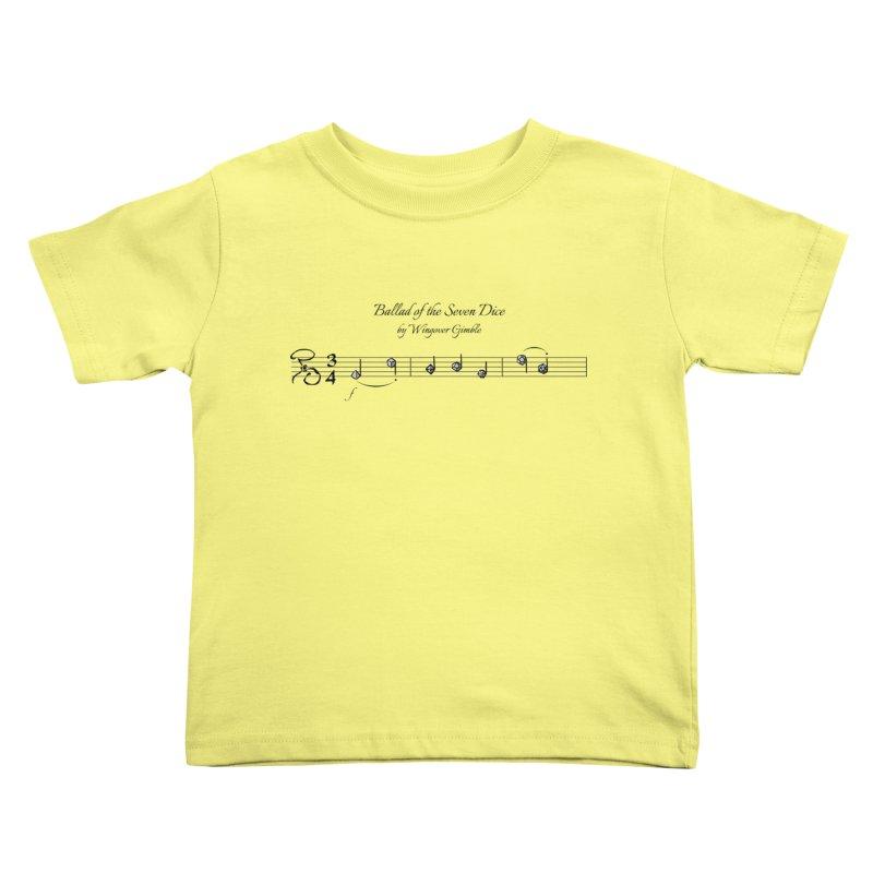 Ballad Sheet Music - Dark Kids Toddler T-Shirt by Ballad of the Seven Dice's Artist Shop