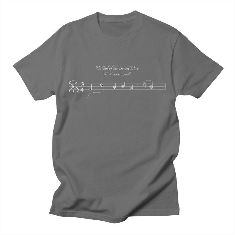 Ballad Sheet Music - White Men's T-Shirt by Ballad of the Seven Dice's Artist Shop