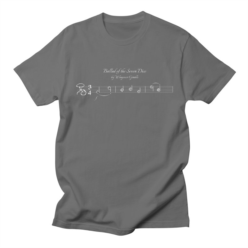 Ballad Sheet Music - White Men's T-Shirt by Ballad of the Seven Dice's Artist Shop