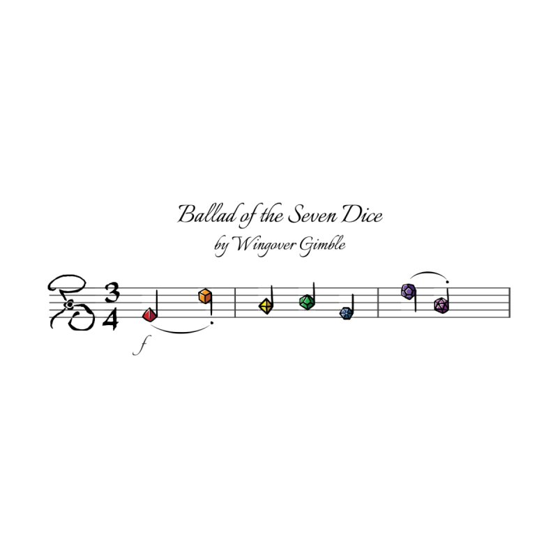 Ballad Sheet Music - Rainbow Dark Men's Pullover Hoody by Ballad of the Seven Dice's Artist Shop