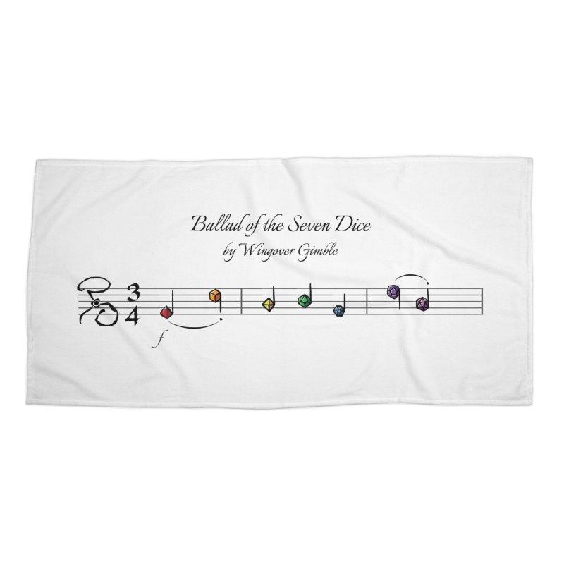 Ballad Sheet Music - Rainbow Dark Accessories Beach Towel by Ballad of the Seven Dice's Artist Shop