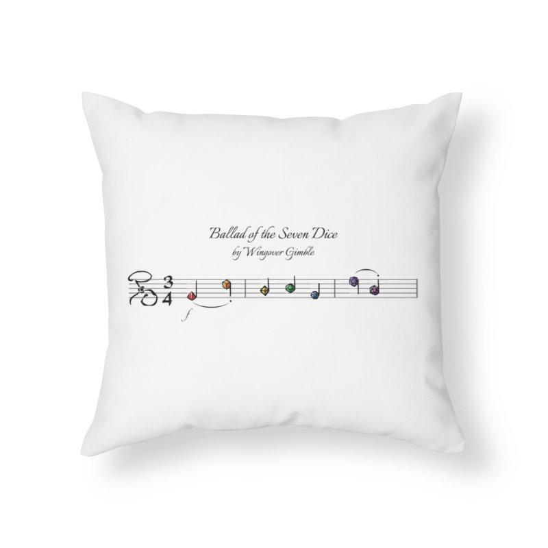 Ballad Sheet Music - Rainbow Dark Home Throw Pillow by Ballad of the Seven Dice's Artist Shop