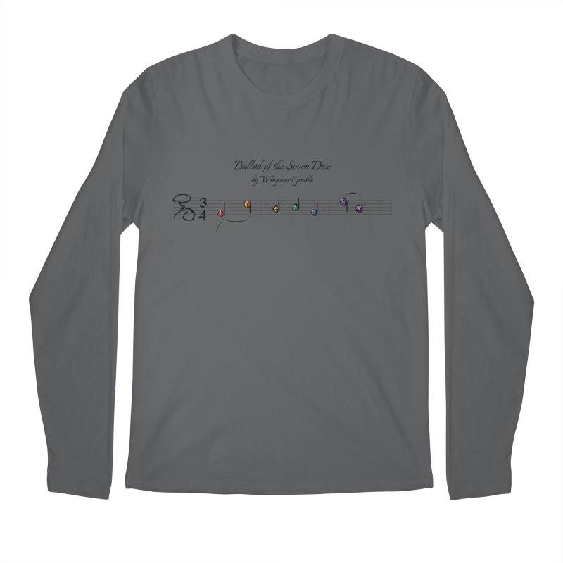 Ballad Sheet Music - Rainbow Dark Men's Longsleeve T-Shirt by Ballad of the Seven Dice's Artist Shop