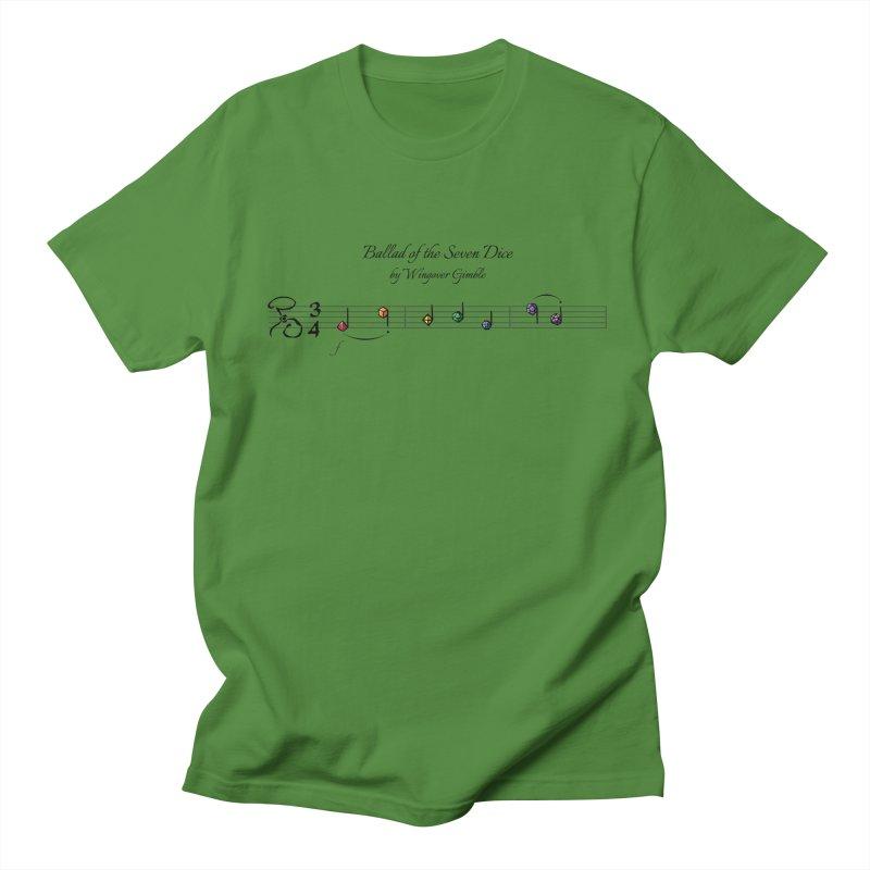 Ballad Sheet Music - Rainbow Dark Men's T-Shirt by Ballad of the Seven Dice's Artist Shop