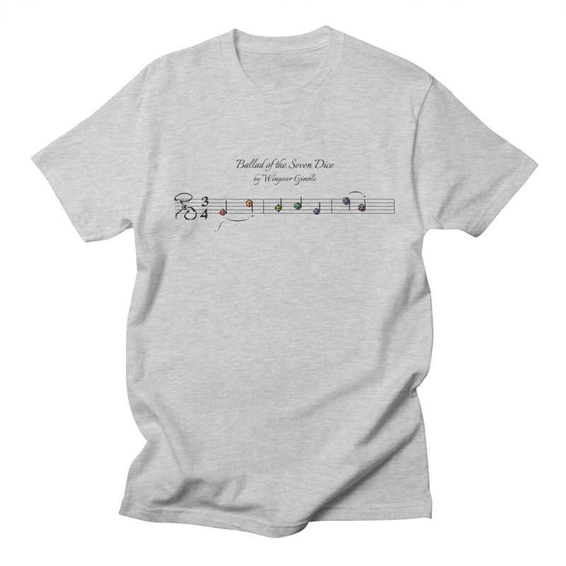 Ballad Sheet Music - Rainbow Dark Men's T-Shirt by Ballad of the Seven Dice's Artist Shop