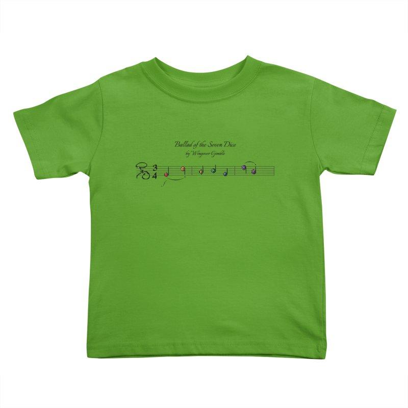 Ballad Sheet Music - Rainbow Dark Kids Toddler T-Shirt by Ballad of the Seven Dice's Artist Shop