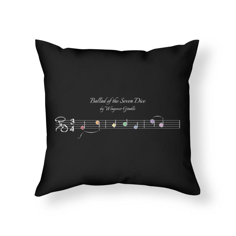 Ballad Sheet Music - Rainbow Light Home Throw Pillow by Ballad of the Seven Dice's Artist Shop