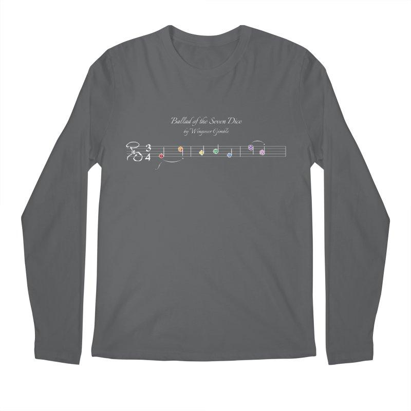 Ballad Sheet Music - Rainbow Light Men's Longsleeve T-Shirt by Ballad of the Seven Dice's Artist Shop