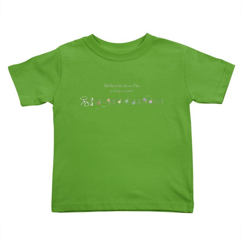 Ballad Sheet Music - Rainbow Light Kids Toddler T-Shirt by Ballad of the Seven Dice's Artist Shop