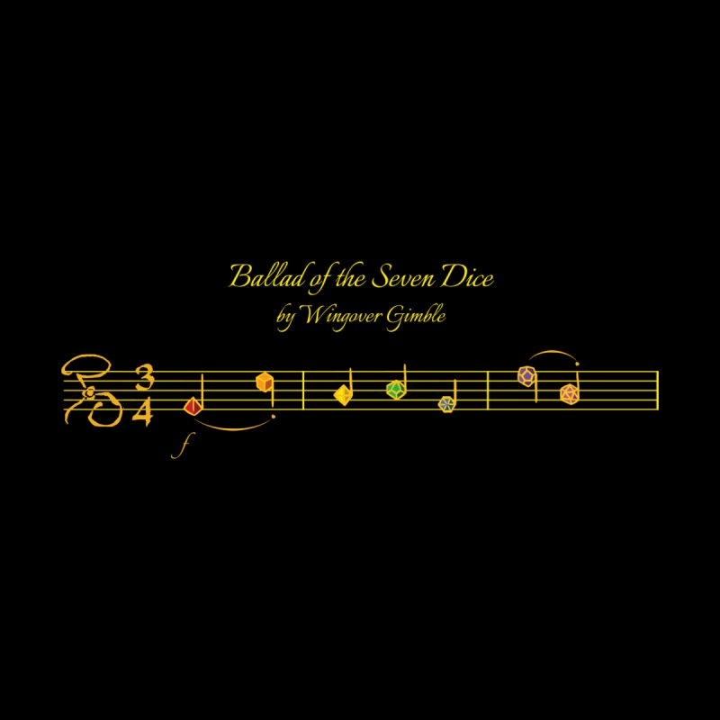 Ballad Sheet Music - Rainbow Yellow Men's T-Shirt by Ballad of the Seven Dice's Artist Shop