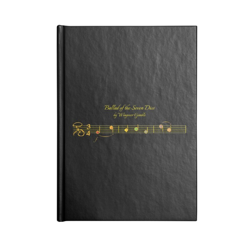 Ballad Sheet Music - Rainbow Yellow Accessories Notebook by Ballad of the Seven Dice's Artist Shop
