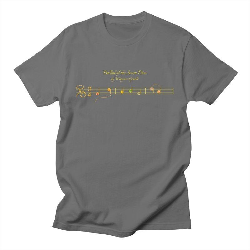 Ballad Sheet Music - Rainbow Yellow Men's T-Shirt by Ballad of the Seven Dice's Artist Shop
