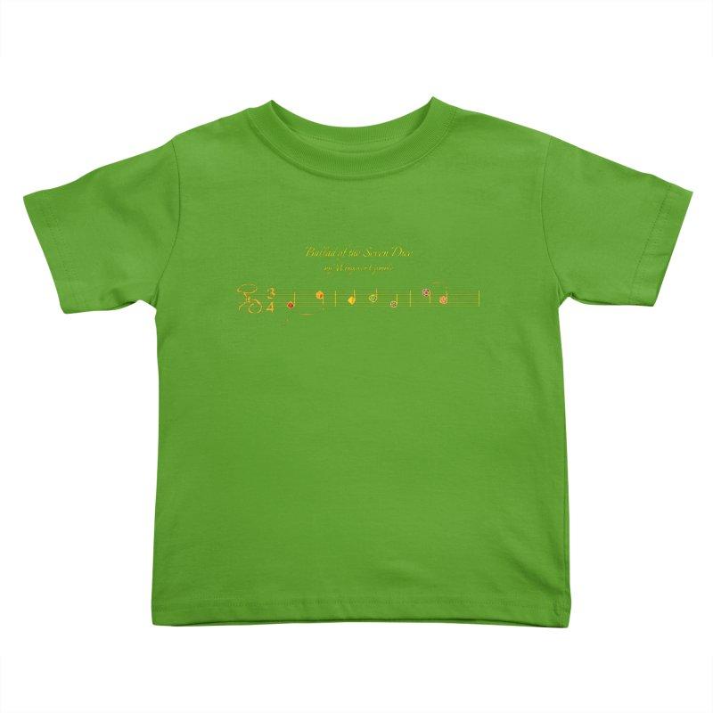 Ballad Sheet Music - Rainbow Yellow Kids Toddler T-Shirt by Ballad of the Seven Dice's Artist Shop
