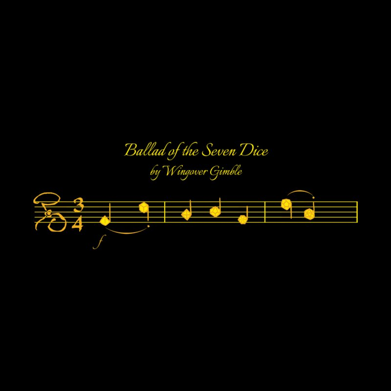 Ballad Sheet Music - Yellow Accessories Beach Towel by Ballad of the Seven Dice's Artist Shop