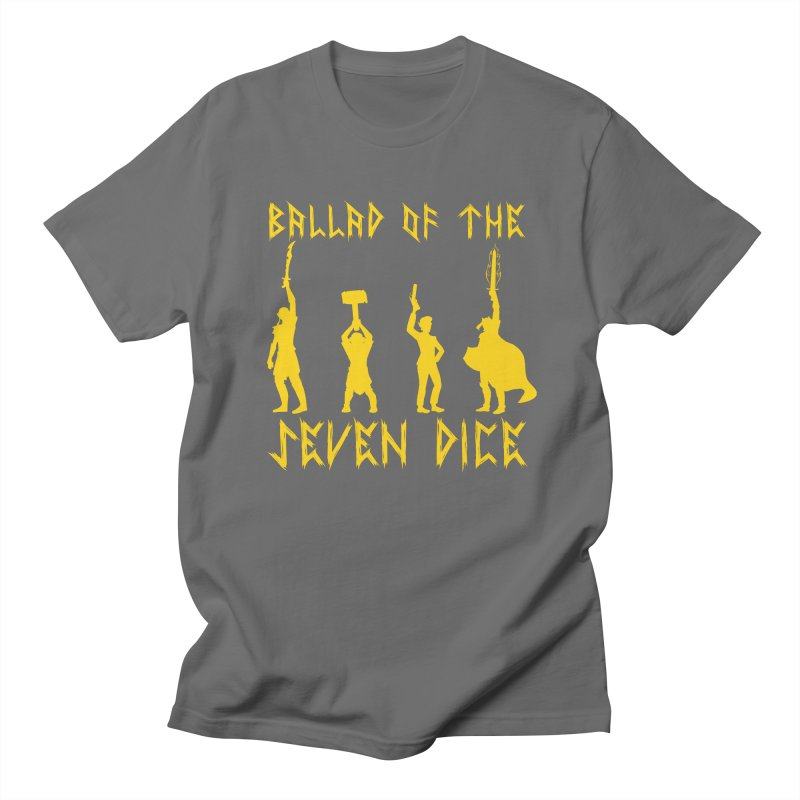 Death Shift Silhouette - Yellow Men's T-Shirt by Ballad of the Seven Dice's Artist Shop