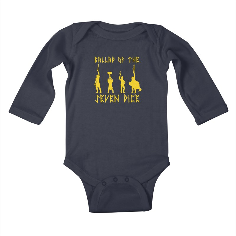 Death Shift Silhouette - Yellow Kids Baby Longsleeve Bodysuit by Ballad of the Seven Dice's Artist Shop
