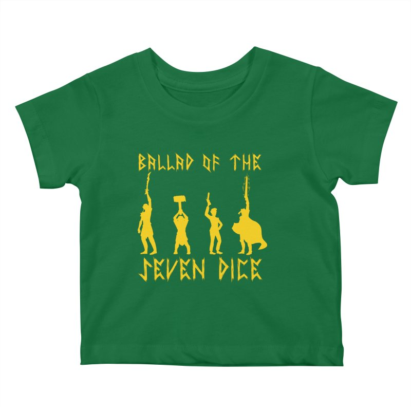 Death Shift Silhouette - Yellow Kids Baby T-Shirt by Ballad of the Seven Dice's Artist Shop