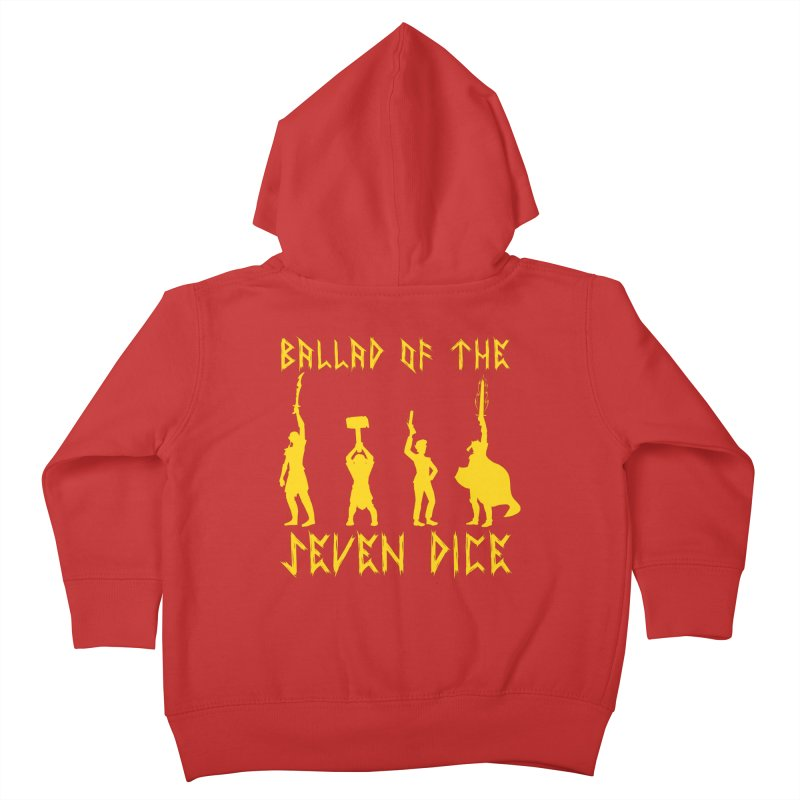 Death Shift Silhouette - Yellow Kids Toddler Zip-Up Hoody by Ballad of the Seven Dice's Artist Shop