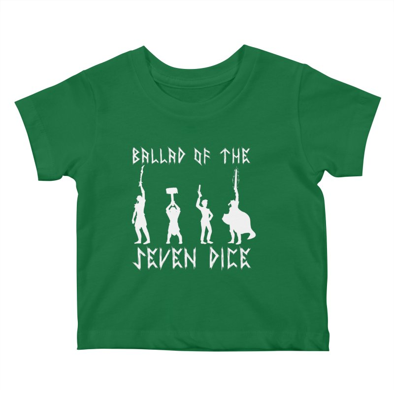 Death Shift Silhouette - White Kids Baby T-Shirt by Ballad of the Seven Dice's Artist Shop
