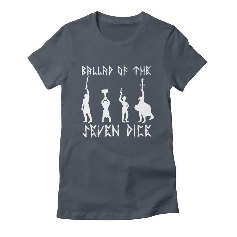 Death Shift Silhouette - White Women's T-Shirt by Ballad of the Seven Dice's Artist Shop