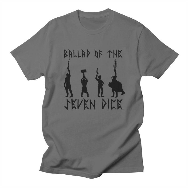 Death Shift Silhouette - Black Men's T-Shirt by Ballad of the Seven Dice's Artist Shop
