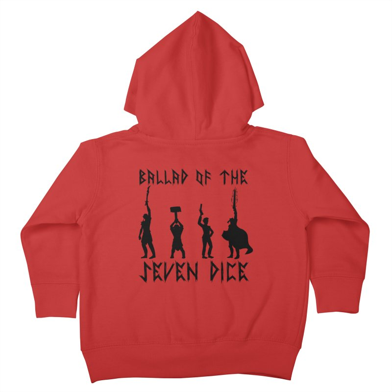 Death Shift Silhouette - Black Kids Toddler Zip-Up Hoody by Ballad of the Seven Dice's Artist Shop