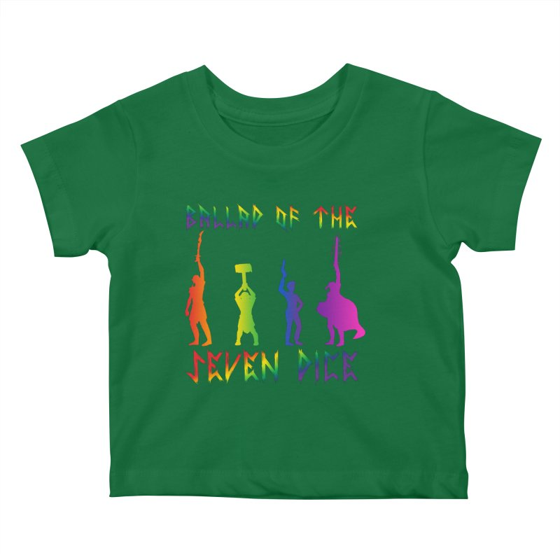Death Shift Silhouette - Rainbow Kids Baby T-Shirt by Ballad of the Seven Dice's Artist Shop