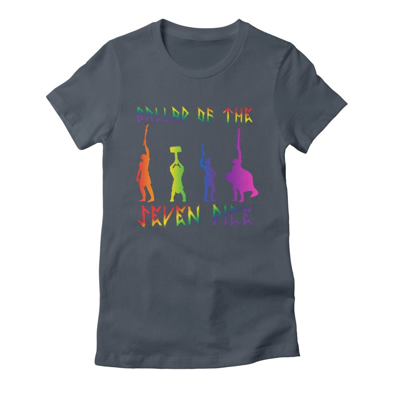 Death Shift Silhouette - Rainbow Women's T-Shirt by Ballad of the Seven Dice's Artist Shop
