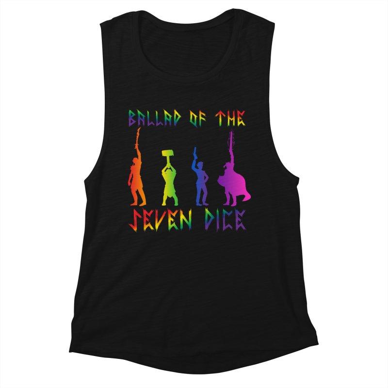 Death Shift Silhouette - Rainbow Women's Tank by Ballad of the Seven Dice's Artist Shop