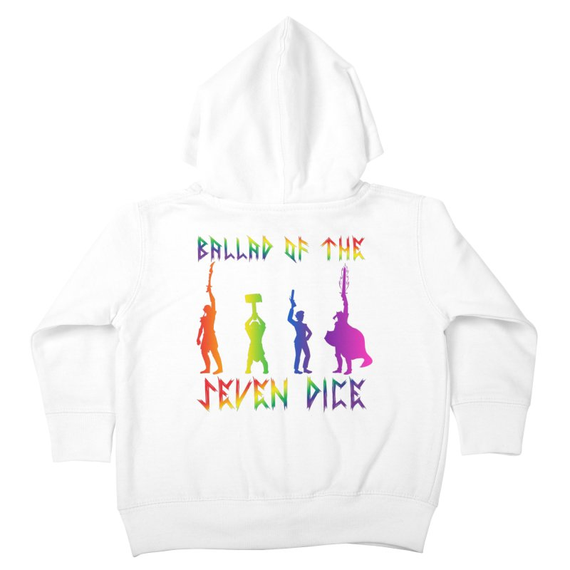 Death Shift Silhouette - Rainbow Kids Toddler Zip-Up Hoody by Ballad of the Seven Dice's Artist Shop