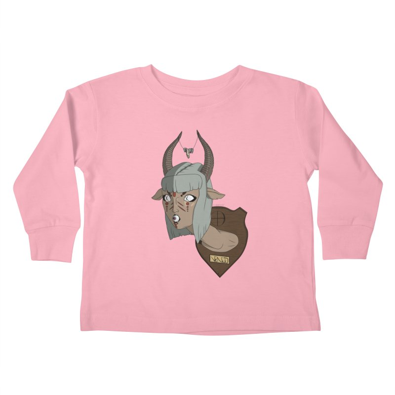 The Demon Inside Said...Take Her Now Kids Toddler Longsleeve T-Shirt by Baloney's Artist Shop