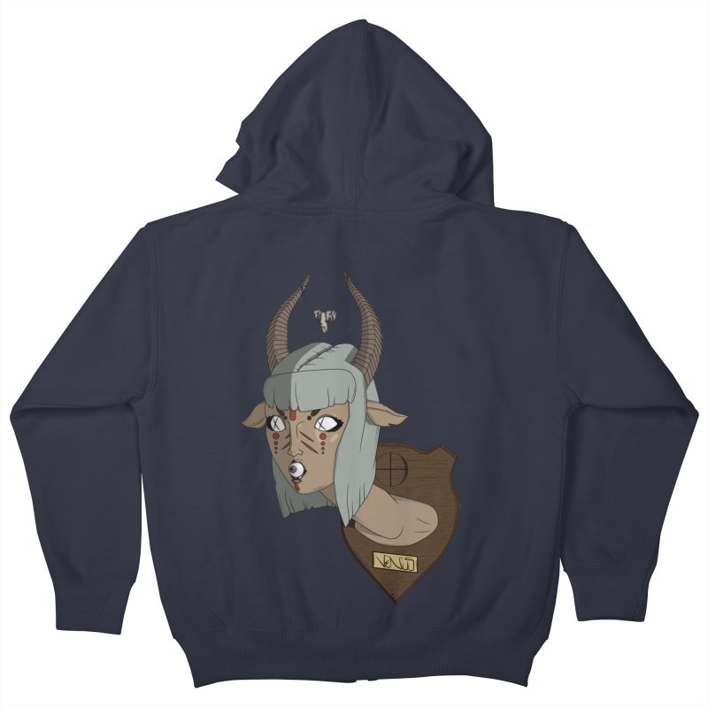 The Demon Inside Said...Take Her Now Kids Zip-Up Hoody by Baloney's Artist Shop