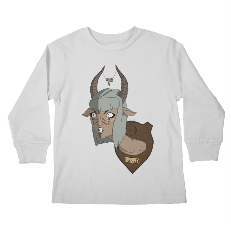 The Demon Inside Said...Take Her Now Kids Longsleeve T-Shirt by Baloney's Artist Shop
