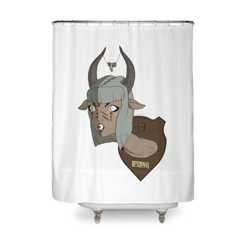 The Demon Inside Said...Take Her Now Home Shower Curtain by Baloney's Artist Shop