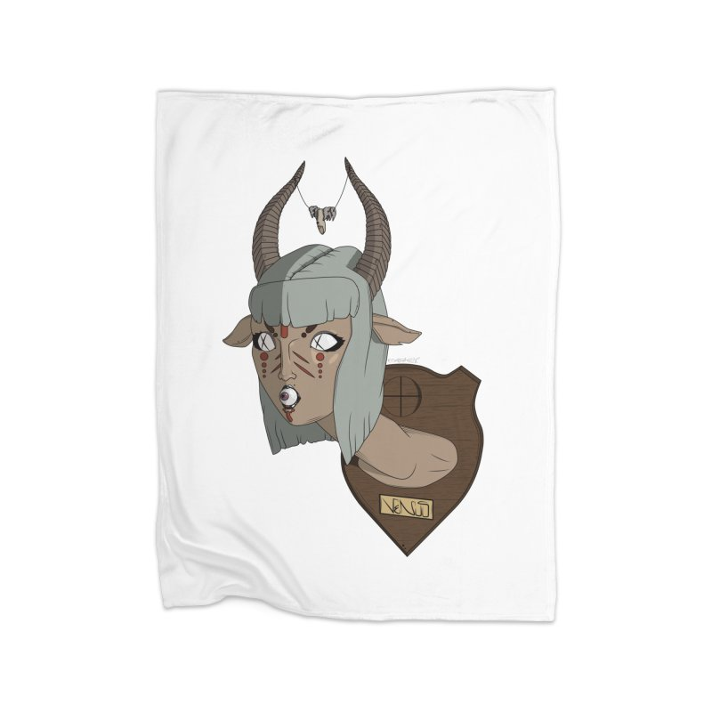 The Demon Inside Said...Take Her Now Home Blanket by Baloney's Artist Shop