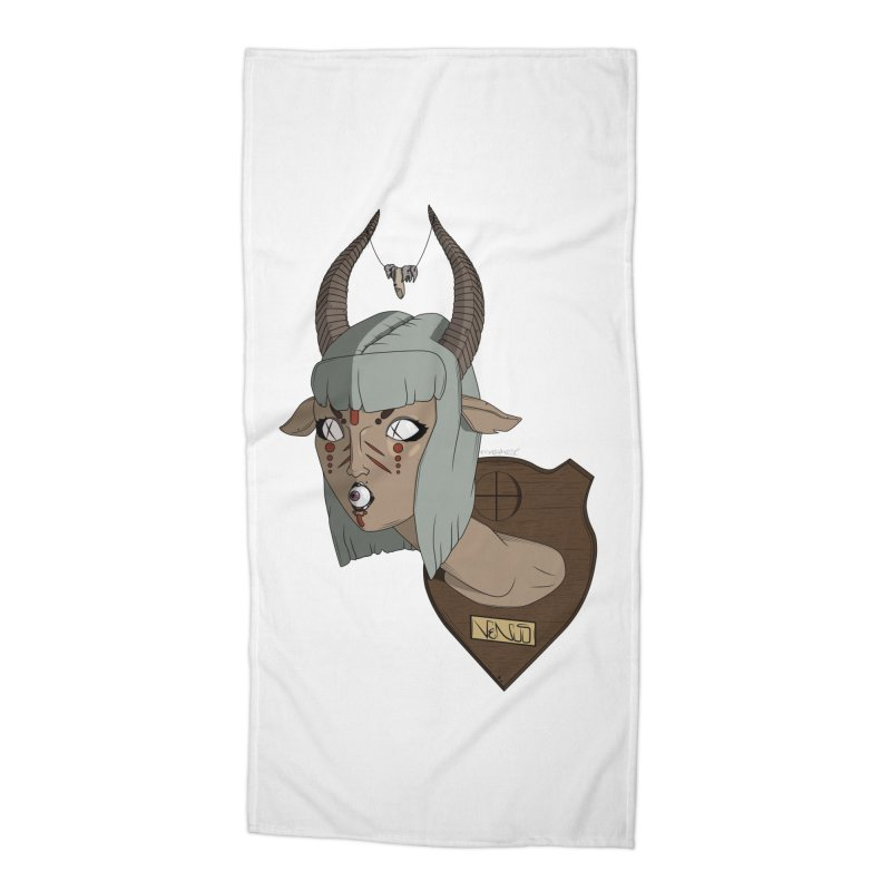 The Demon Inside Said...Take Her Now Accessories Beach Towel by Baloney's Artist Shop