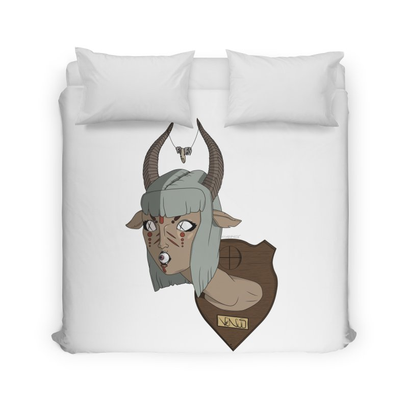The Demon Inside Said...Take Her Now Home Duvet by Baloney's Artist Shop