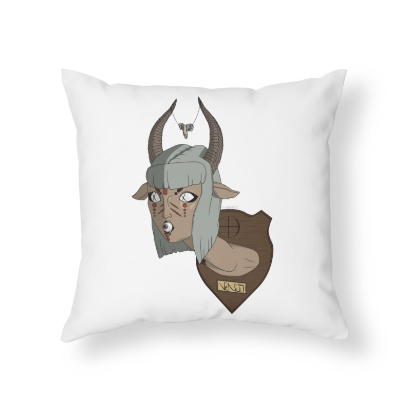 The Demon Inside Said...Take Her Now Home Throw Pillow by Baloney's Artist Shop