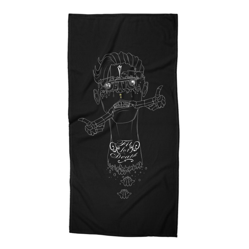 Fit for Death Accessories Beach Towel by Baloney's Artist Shop