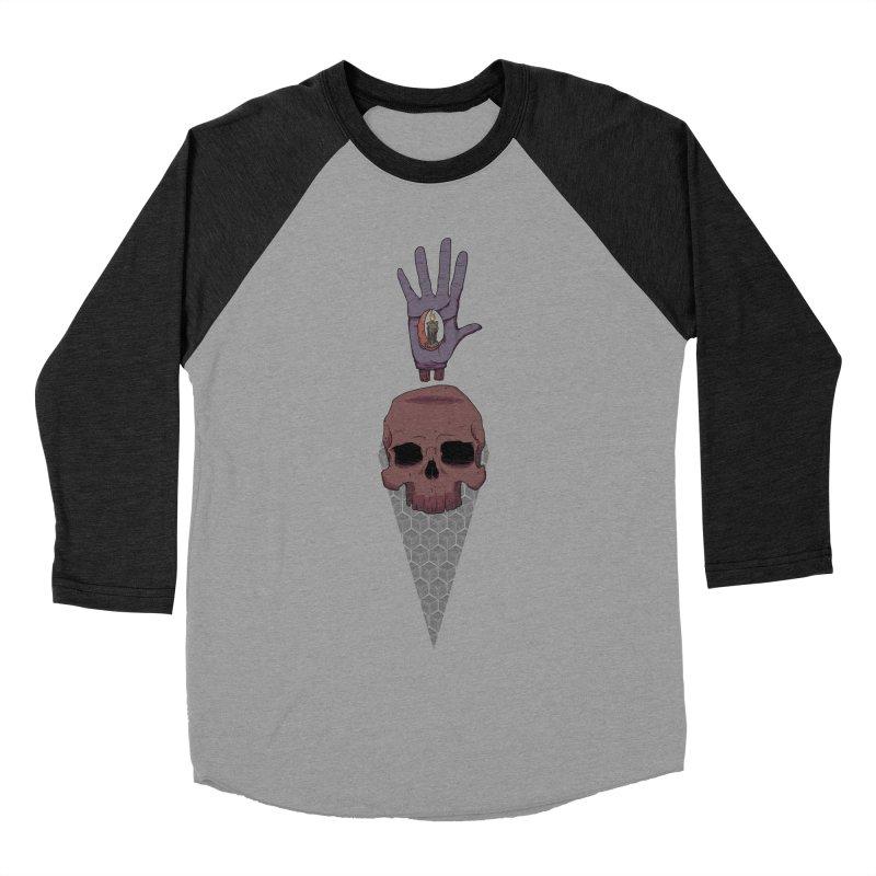 Skulls Inner Light Women's Baseball Triblend T-Shirt by Baloney's Artist Shop
