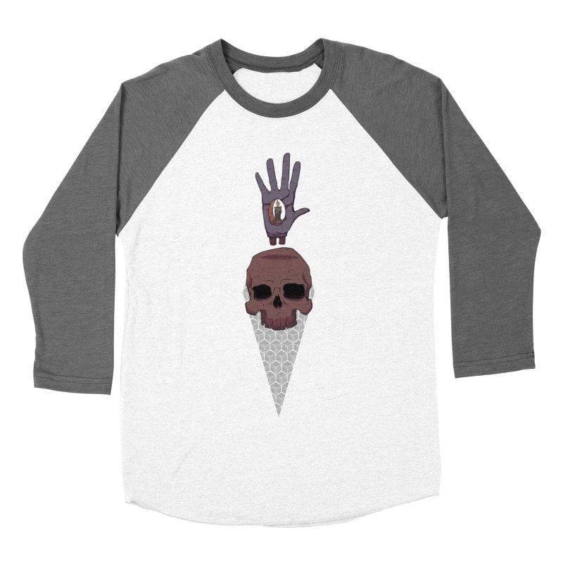 Skulls Inner Light Men's Baseball Triblend T-Shirt by Baloney's Artist Shop