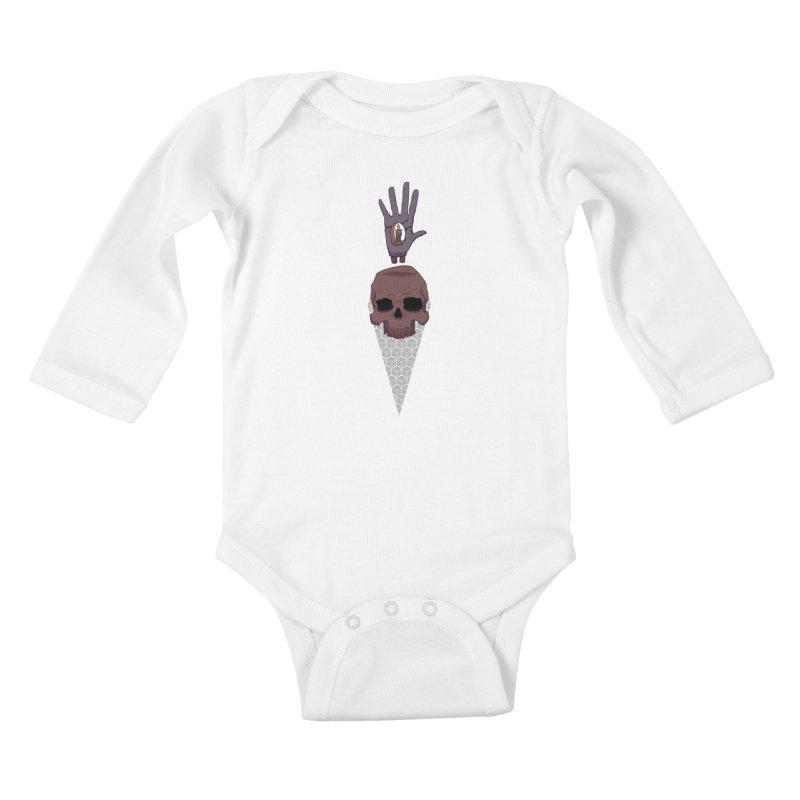 Skulls Inner Light Kids Baby Longsleeve Bodysuit by Baloney's Artist Shop