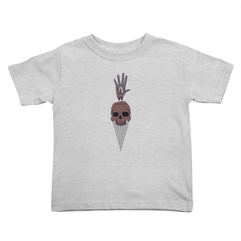 Skulls Inner Light Kids Toddler T-Shirt by Baloney's Artist Shop