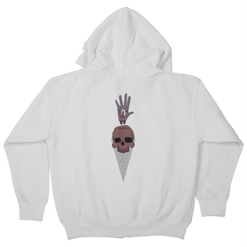 Skulls Inner Light Kids Zip-Up Hoody by Baloney's Artist Shop