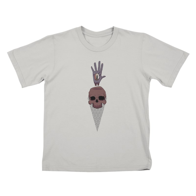 Skulls Inner Light Kids T-Shirt by Baloney's Artist Shop