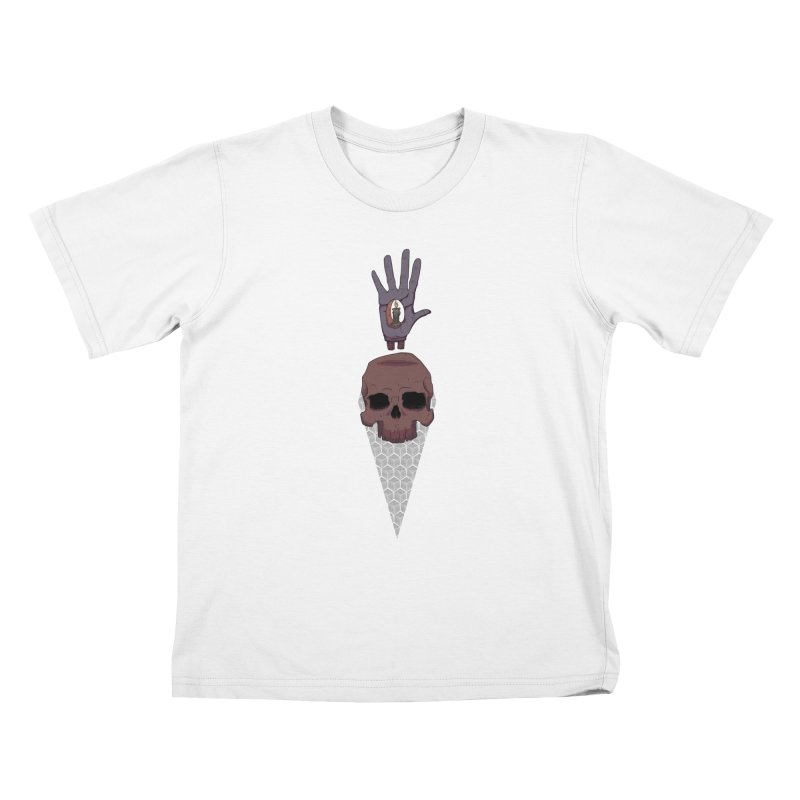 Skulls Inner Light Kids T-Shirt by Baloney's Artist Shop
