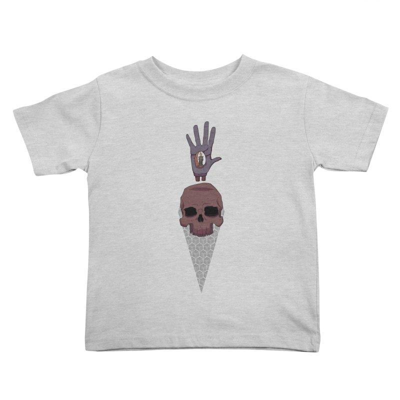 Skulls Inner Light Kids Toddler T-Shirt by Baloney's Artist Shop