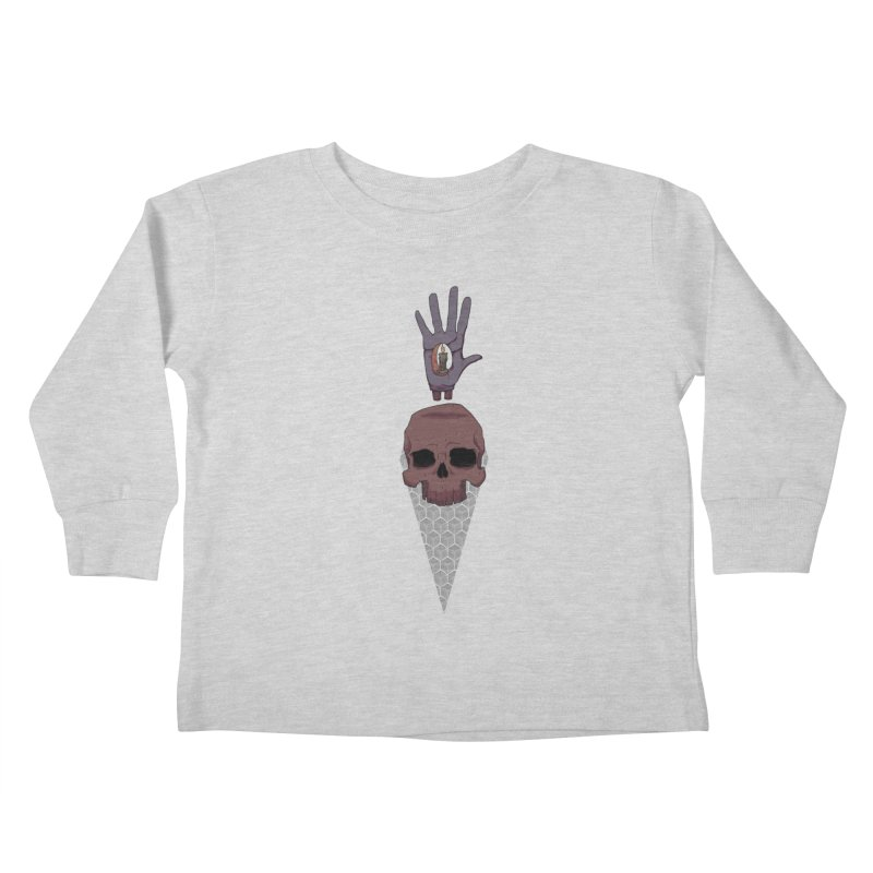 Skulls Inner Light Kids Toddler Longsleeve T-Shirt by Baloney's Artist Shop